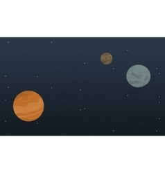 In outer space of landscape vector
