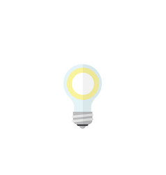 Isolated bulb flat icon lightbulb element vector