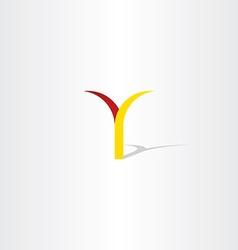 logo y letter y red yellow icon vector image
