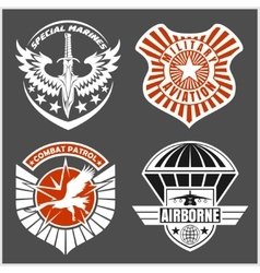 Military airforce patch set - armed forces badges vector image vector image