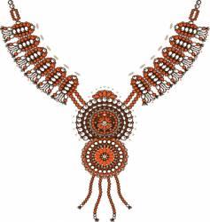 necklace design vector image vector image