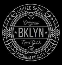 New York Brooklyn typography vector image