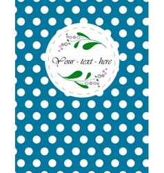 Nice card with pattern for your holiday vector image vector image
