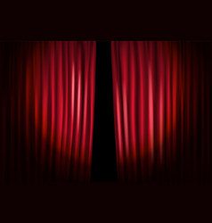 Opening stage curtains standup show template vector