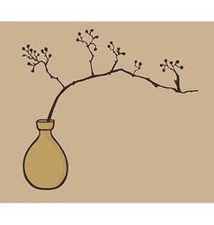 Oriental zen vase vector image vector image