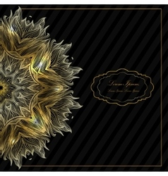 Ornamental round mandala Geometric circle element vector image