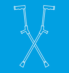 other crutches icon outline style vector image