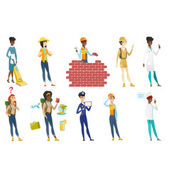 Professional women set vector