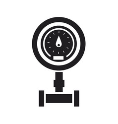 sanitary equipment water meter with pipeline vector image