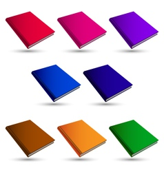 set books vector image