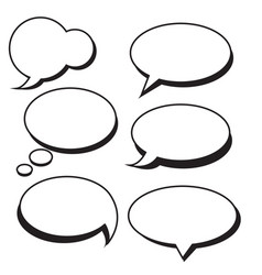 set of speech bubbles bubbles vector image vector image