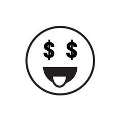 Smiling cartoon face people emotion show tongue vector