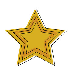 star shape symbol vector image vector image