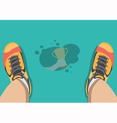Sweat on the floor vector