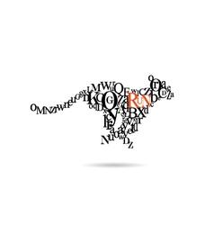 Typography cheetah vector image vector image
