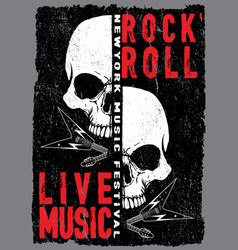 Vintage rock and roll typographic for t-shirt tee vector