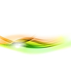 Background green wave vhite horizontal vector