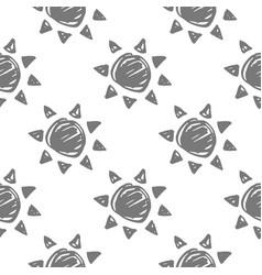 Sun monochrome pattern vector