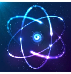 Shining atom neon scheme vector