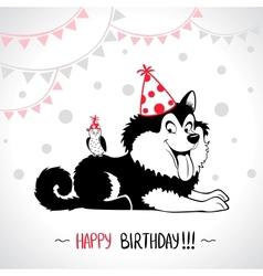 dog birthday vector image