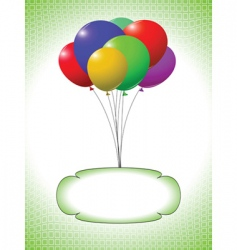 Balloons and bubble vector