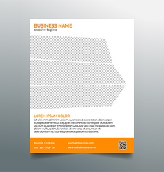 Business flyer template - stylish orange design vector