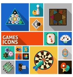 Games icons set vector
