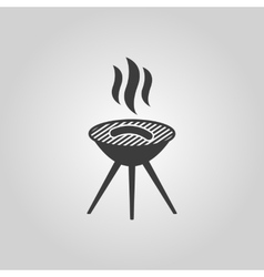 The grill icon barbeque symbol flat vector