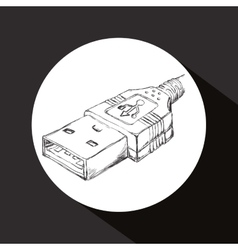 Usb icon design vector