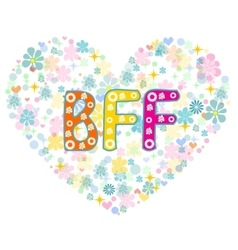 Bff best friends forever greeting card vector