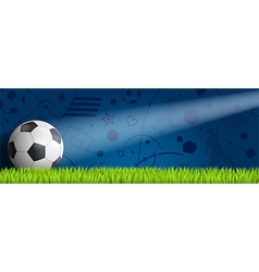 Header soccer on blue blackground vector