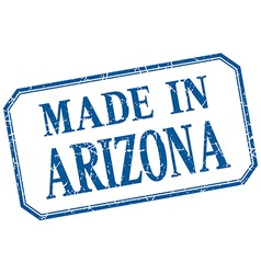 Arizona - made in blue vintage isolated label vector