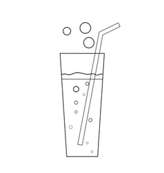 Glass soda icon transparent vector
