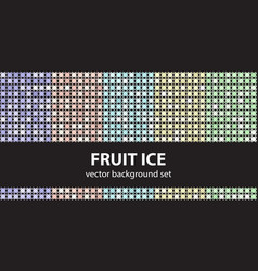 Abstract pattern set fruit ice seamless vector