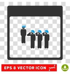 Army squad calendar page eps icon vector