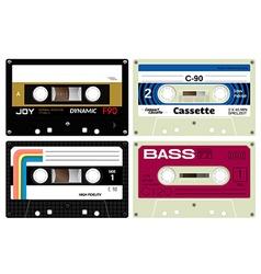 Audio cassette tapes vector