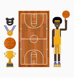 basketball icons vector image
