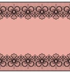 Black lace borders vector