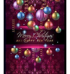 Christmas Vintage Classic Background with balls vector image vector image