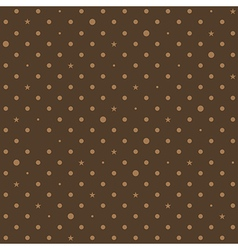 Coffee brown star polka dots background vector