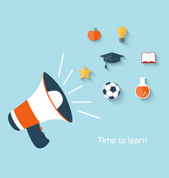 Education concept with megaphone vector image