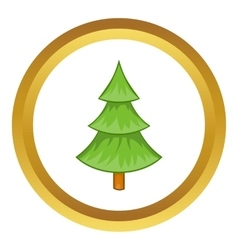Fir tree icon vector
