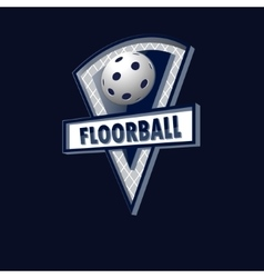 Floorball logo for the team and the cup vector
