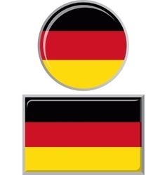 Germany round and square icon flag vector