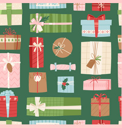 Gift box present packs christmas or vector