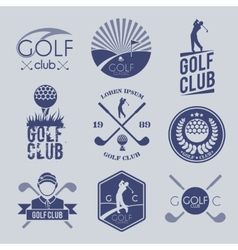 Golf club label vector