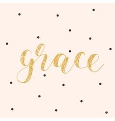 Grace brush lettering vector