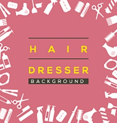 Hair dresser background vector