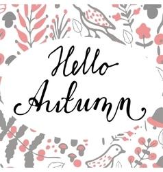Hello Autumn background vector image vector image