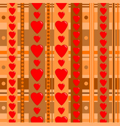 holiday seamless pattern with hearts vector image vector image